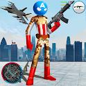 US Capitain Army Stickman Rope Hero Gangstar Crime icon