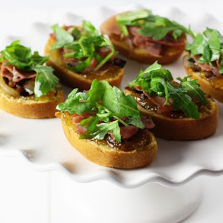 Sweet Potato Proscuitto Crostini