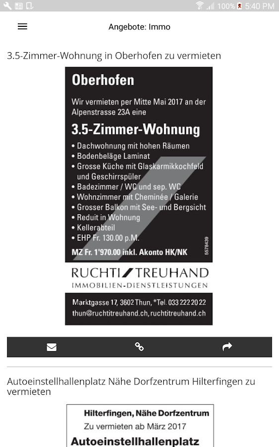 Thuner Amtsanzeiger Screenshot Translate The Description Into English