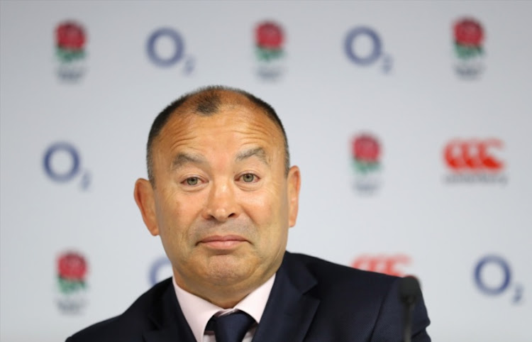 England head coach Eddie Jones speaks during an England squad announcement for their Summer tour of South Africa at Twickenham Stadium on May 10, 2018 in London, England.