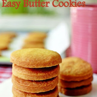 3 ingredient easy butter cookies/Shortbread Cookies