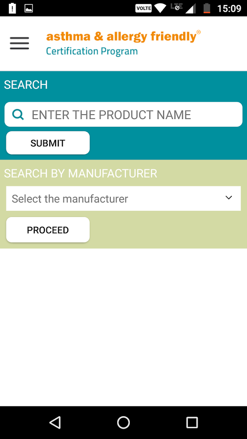 Certified Products- screenshot