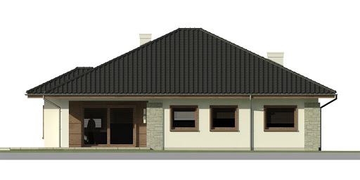 Dom przy Pastelowej 2 - Elewacja tylna