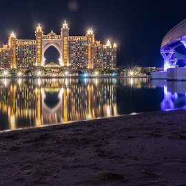 Atlantis - The Lost world by Ansari Joshi - Buildings & Architecture Office Buildings & Hotels ( atlantis, dubai photographer, waterscape, reflections, nightscape, long exposure, landscape, dubai, night photography,  )