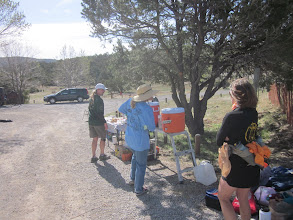 Photo: Waiting around the Cedro Peaks aid station for the last runners to come in so we can begin our sweeping duties.