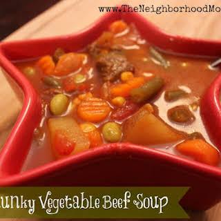 V8 Chunky Vegetable Beef Soup.