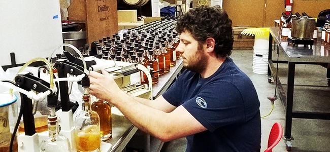 Robbie Delany Bottling Carolina Rum