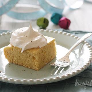 Skinny Eggnog Cake