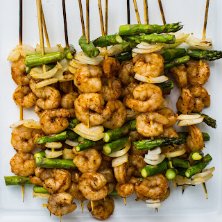Grilled Shrimp and Asparagus Kebabs Recipe