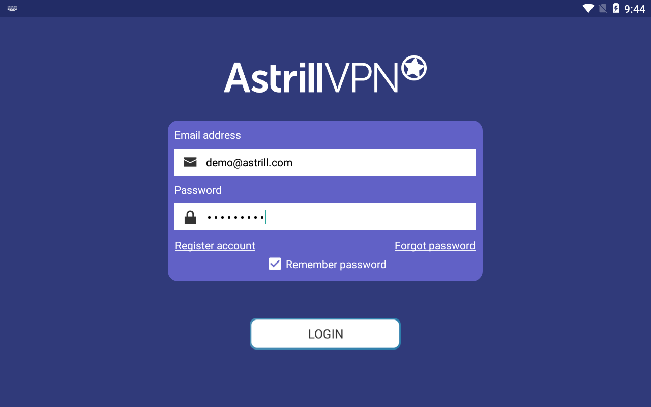 Astrill VPN - fast & secure Android VPN- screenshot