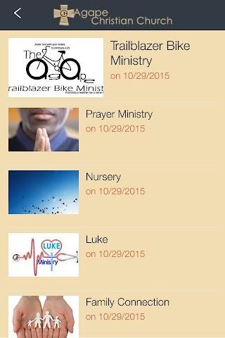 android Agape Christian Church Screenshot 0
