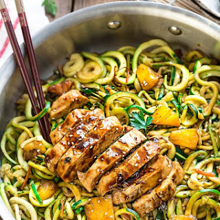 One Pot Teriyaki Chicken Zoodles.