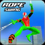 Amazing Rope Swing Hero- Vegas Crime City games 3D