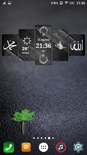 Homeland Digital Clock Widget- screenshot thumbnail