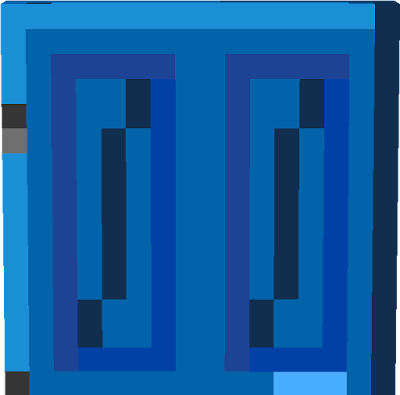 That Lapis Lazuli Door includes a Key Card in it and its made out of Lapis Lazuli ore.