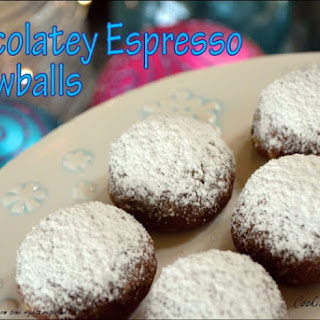 Chocolatey Espresso Snowball Cookies Recipe