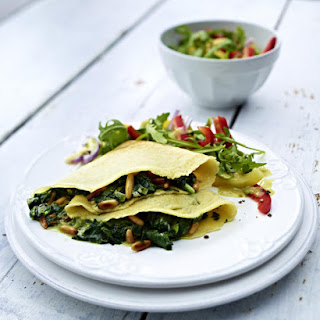Spinach and Blue Cheese Crepes