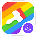 Colorful rainbow  theme icon