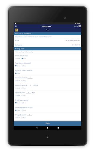 Merrick Bank Mobile Screenshot