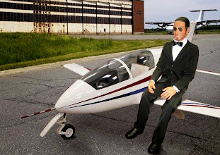 Photo: 1:2  BD 5 Micro Jet und James Bond   007 ............. mit der  Lizenz zum Fliegen ( made by Axel )