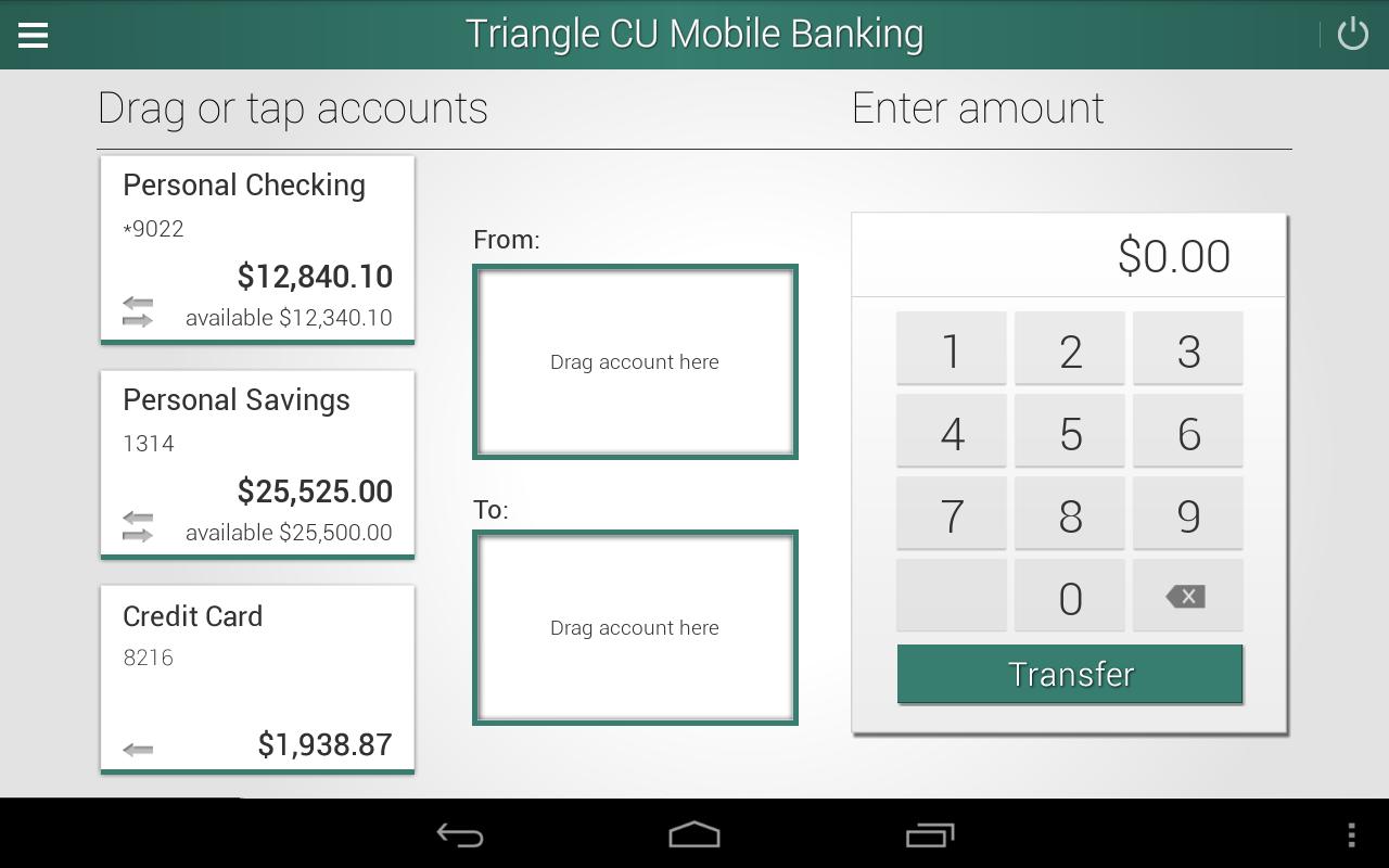 Triangle Credit Union- screenshot