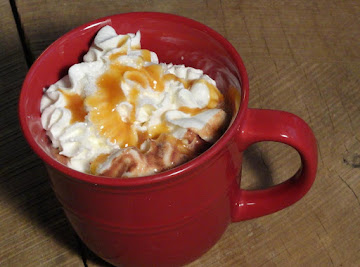 Salted Caramel Hot Chocolate! Recipe