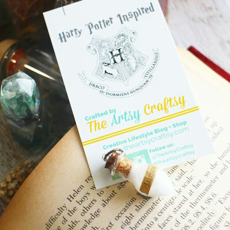 Harry Potter Inspired Potion Pendant - Lumos by The Artsy Craftsy