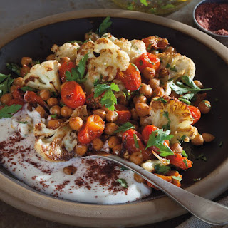 Chickpea, Cauliflower And Tomato Salad.
