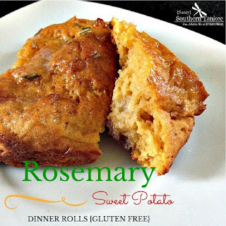 Rosemary Sweet Potato Dinner Rolls {Gluten Free}