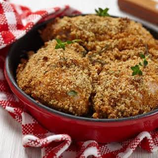 Oven-Fried Garlic Parmesan Chicken.