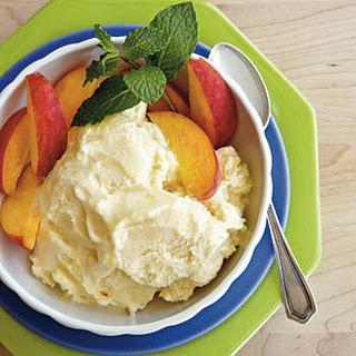 No-Cook Peach Ice Cream