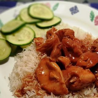 Pressure Cooker Honey Garlic Chicken.