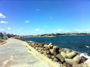 Photo: Widok z wyspy na nowy Nesebyr