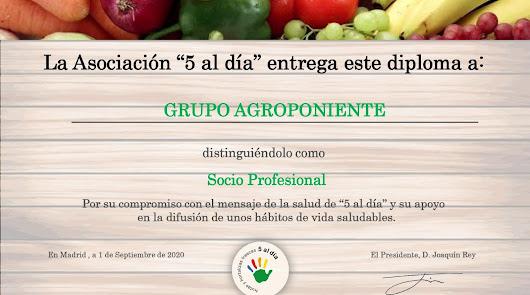 Grupo Agroponiente, nuevo miembro de la Asociación 5 Al Día
