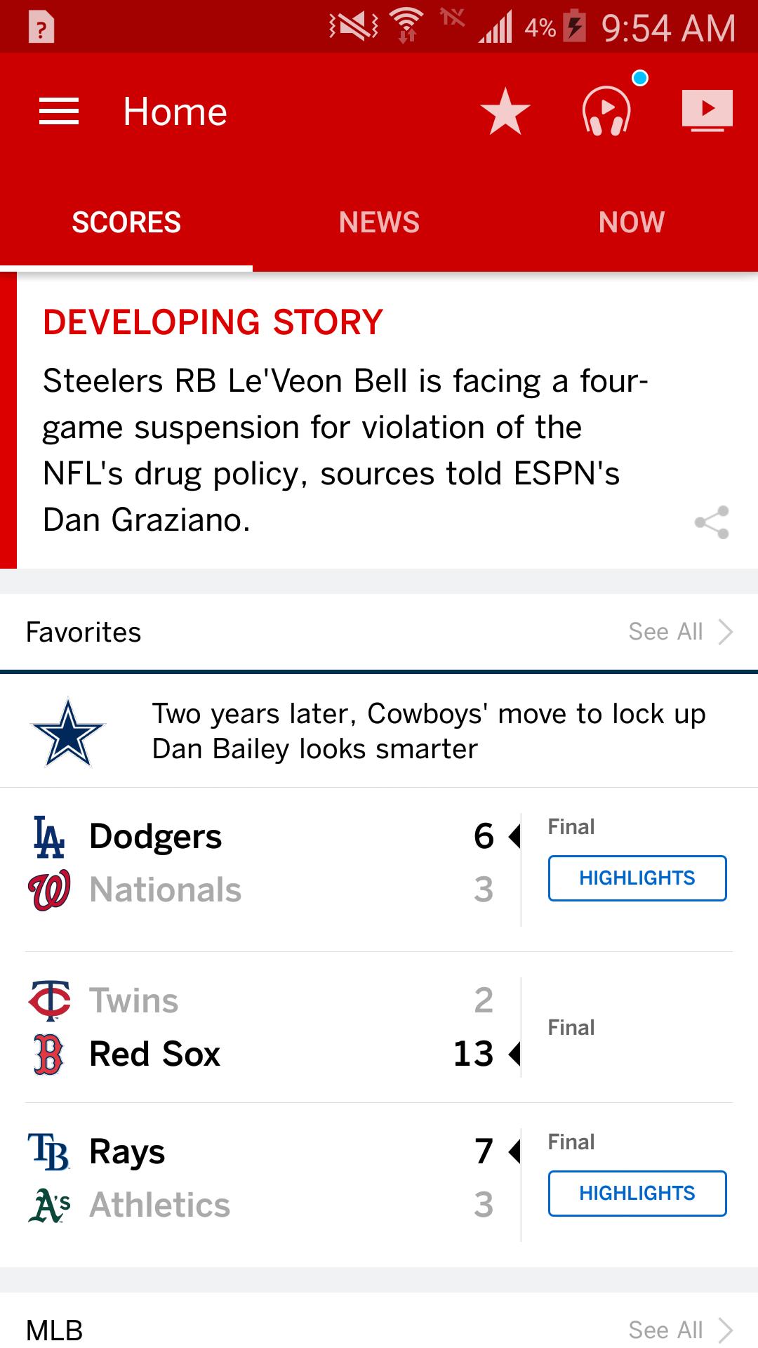 ESPN screenshot #1