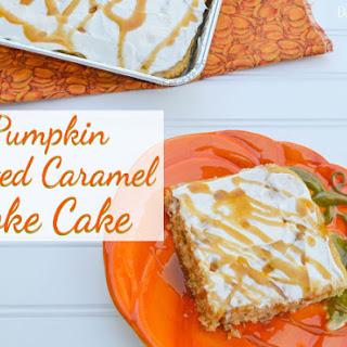 Pumpkin Salted Caramel Poke Cake.