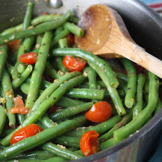 Tender Green Beans w/ Cherry Tomatoes