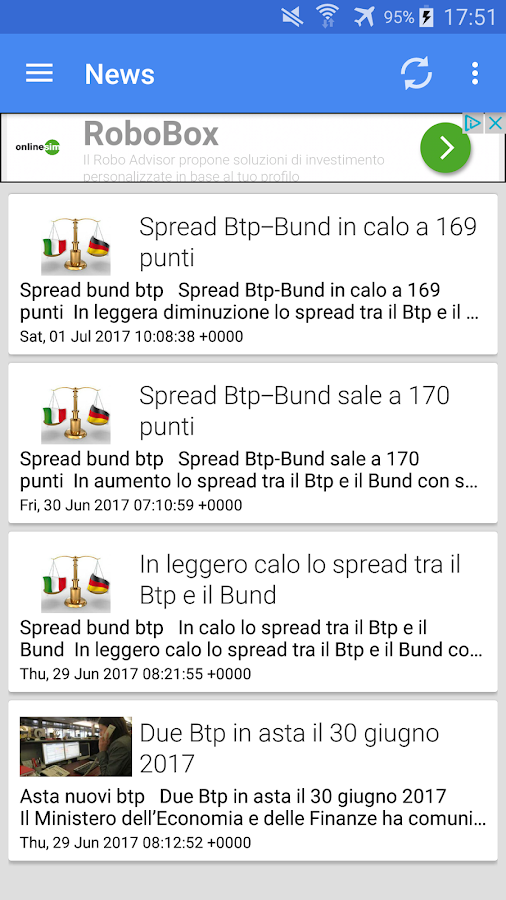 BTP Rendimento Netto- screenshot