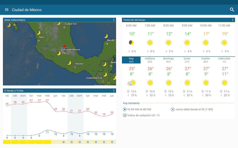 Tiempo radar widget del tiempo gratis aplicaciones for Aplicacion del clima