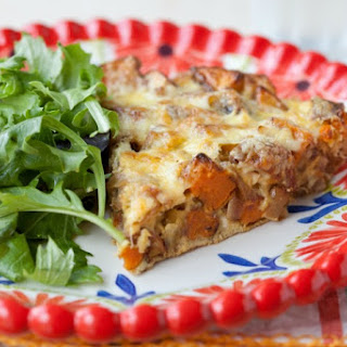 Frittata with Sweet Potato, Sausage and Caramelized Onions (Paleo, Grain-Free)