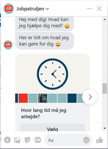 Jobpatrulje-chatbot til rådgivning af unge arbejdere om deres rettigheder på arbejdsmarkedet preview
