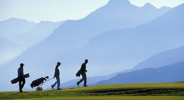 Photo: Where you can take in views of the Alps and feel refreshed by the cool mountain air on the course.
