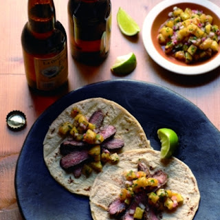 Grilled Chile-Lime Flank Steak Soft Tacos Recipe