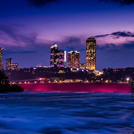 Niagara before it falls... by Rajat Das - City,  Street & Park  City Parks ( askrajat, niagara falls, sunset, long exposure, niagara, ny )