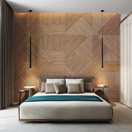 Modernize Your Bedroom with Vertical Wood