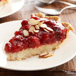 Cherry Almond Creamy Cheese Pie