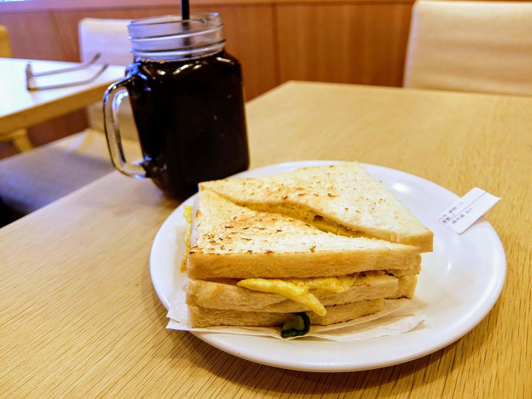蜜汁燒肉蛋吐司+紅茶