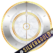 Silver and Gold Clock Widget