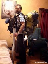 Photo: Matt, Packed and ready to go.