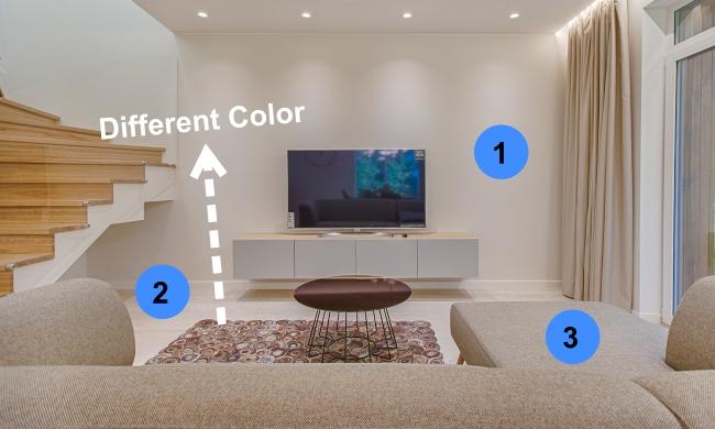 Photo of rug not matching walls